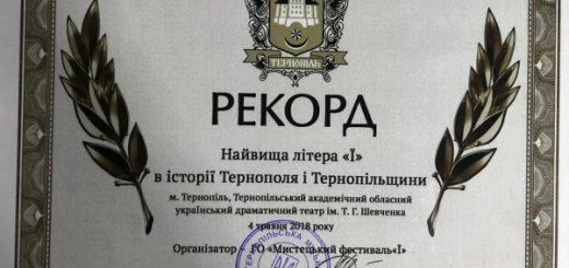 Світовий рекорд встановили у Тернополі під час «Мистецького фестивалю «Ї» ab0bd607cfcbe
